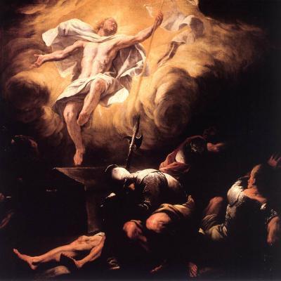 Resurrection, Luca Giordano, 1665